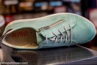 Alpina soft mint green lovely soft leather shoe. Available online with free postage or from our Whitchurch Hampshire shop between Basingstoke, Andover Winchester and Newbury Berkshire.
